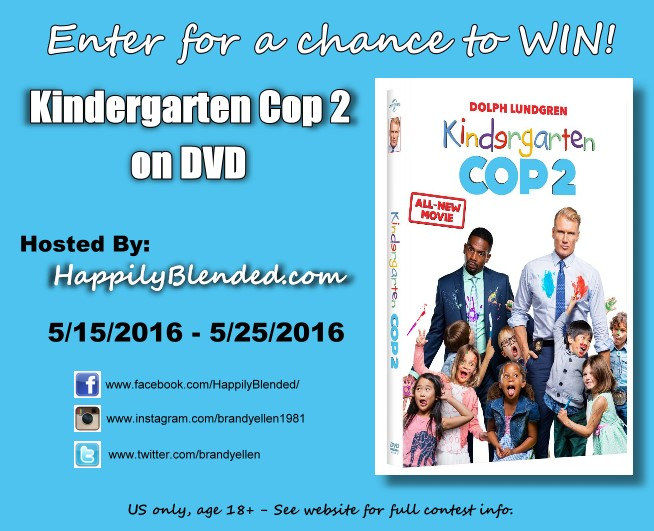 Kindergarten Cop 2 DVD Giveway via Happily Blended