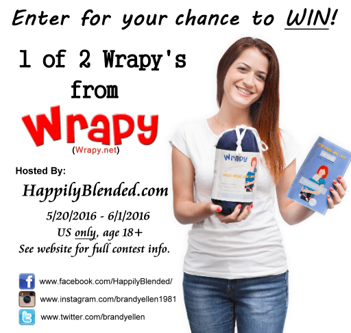 Enter to win 2 Wrapy's on Happily Blended Blog