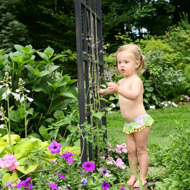 Garden Gnome  HappilyEvaAfter SummerInConnecticut FlowerPower MarloweMae 23monthsold childhoodunplugged toddlerlife