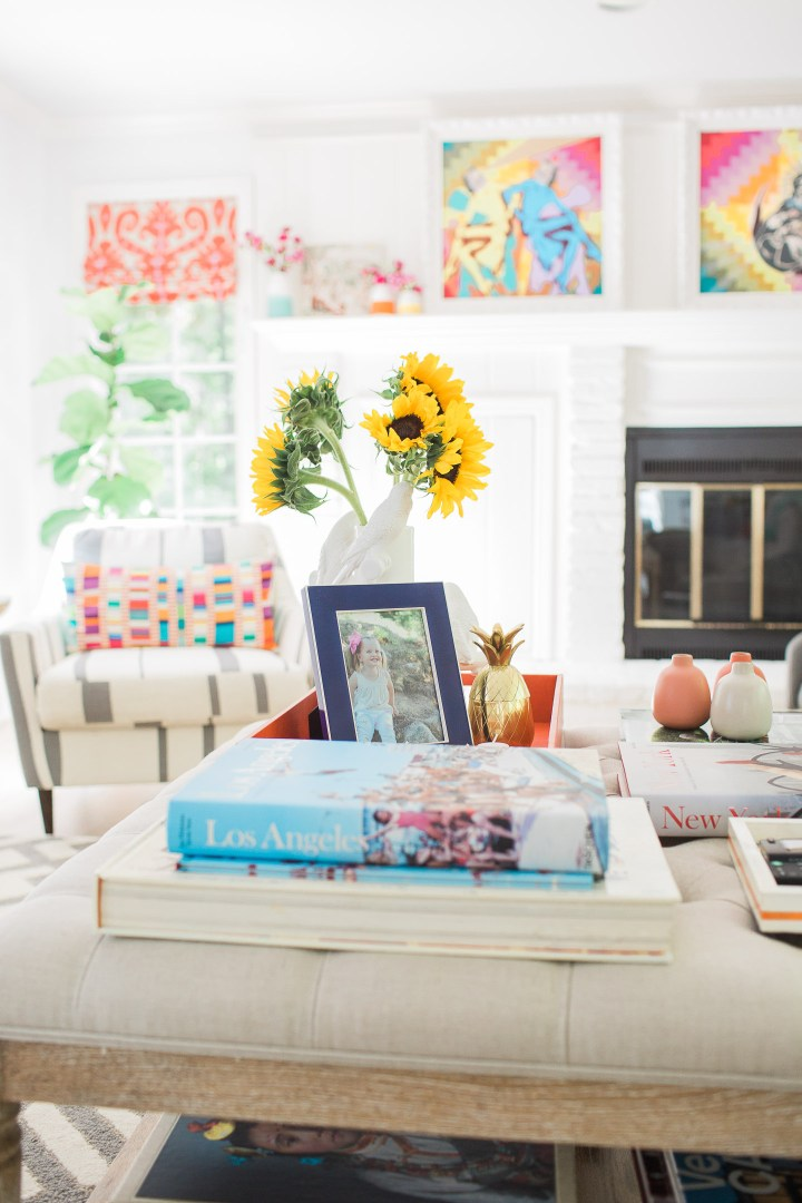The coffee table in Eva Amurri Martino's connecticut home