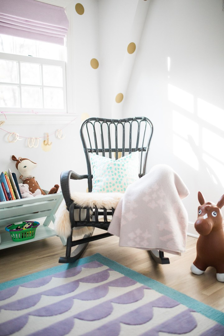 Marlowe Martino's bedroom, as designed by her mother Eva Amurri Martino of lifestyle and motherhood blog Happily Eva After