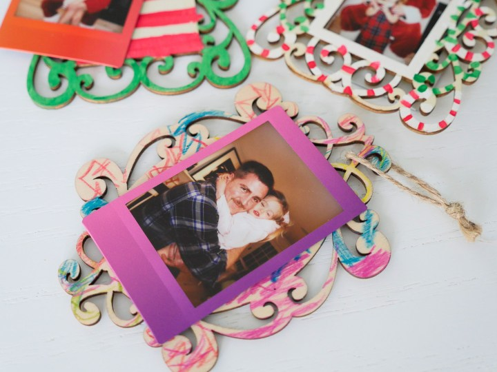Eva Amurri Martino crafts Holiday Photo Ornaments using the instax Mini 70 Instant camera