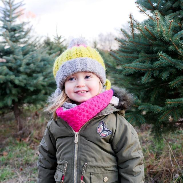 This little elf picked out our family Christmas tree thishellip