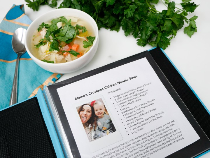 Eva Amurri Martino of lifestyle and motherhood blog Happily Eva After creates a keepsake cookbook for her daughter Marlowe featuring Fujifilm Instax instant photographs