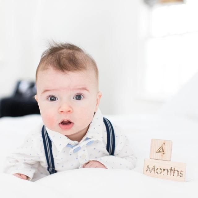 Happy FourMonths to our little Mr Wonderful!! Major Boy ishellip