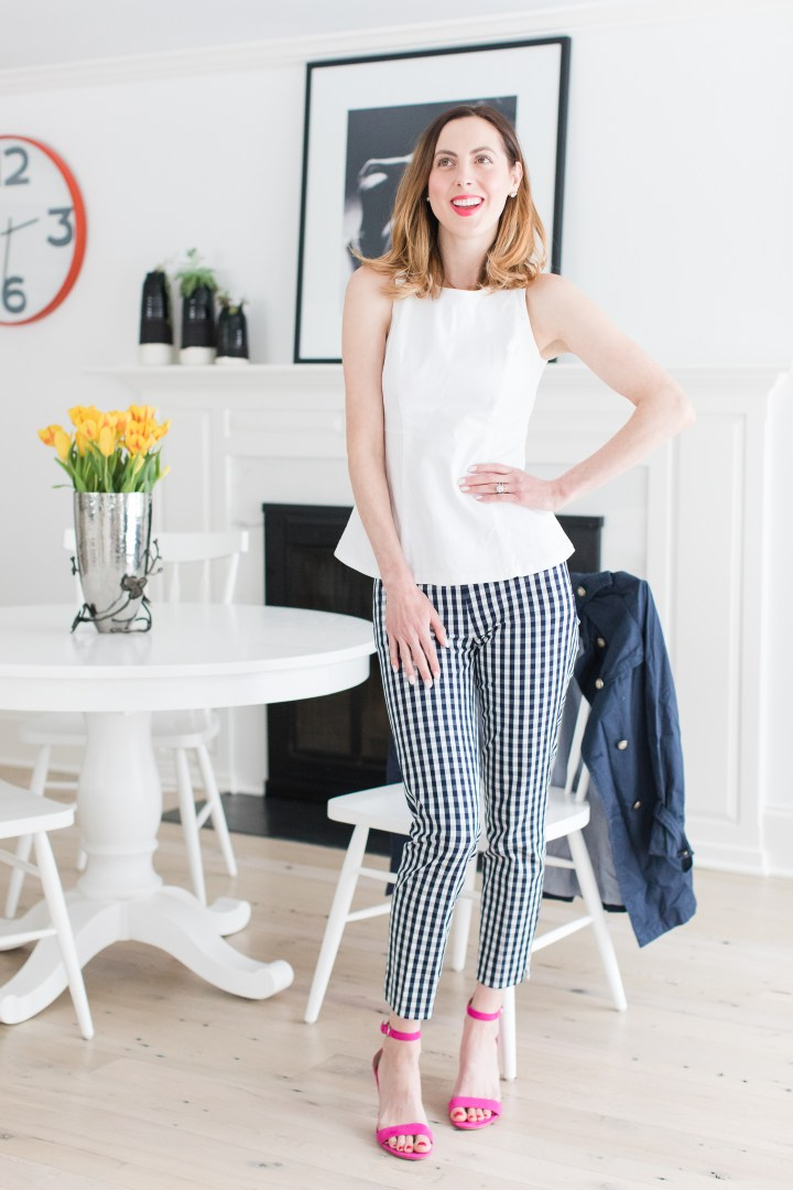 Eva Amurri Martino wears her outfit of secondhand clothes from thredUP