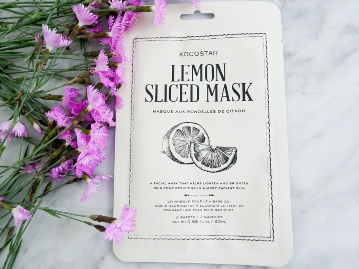 Eva Amurri Martino displays a lemon sliced sheet mask