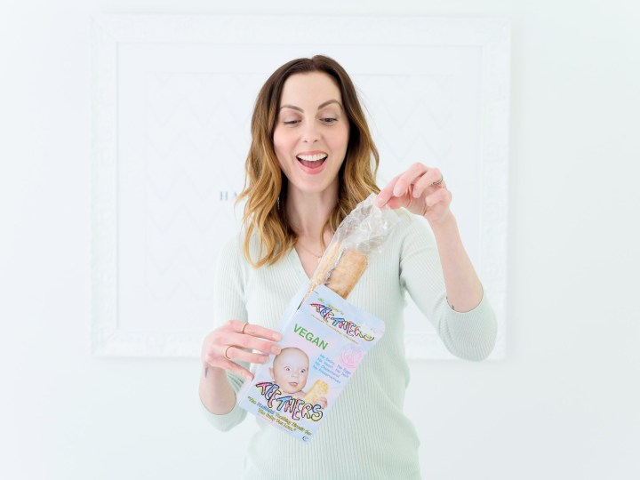Eva Amurri Martino features Teethers Teething buiscuits as part of her monthly obsessions roundup
