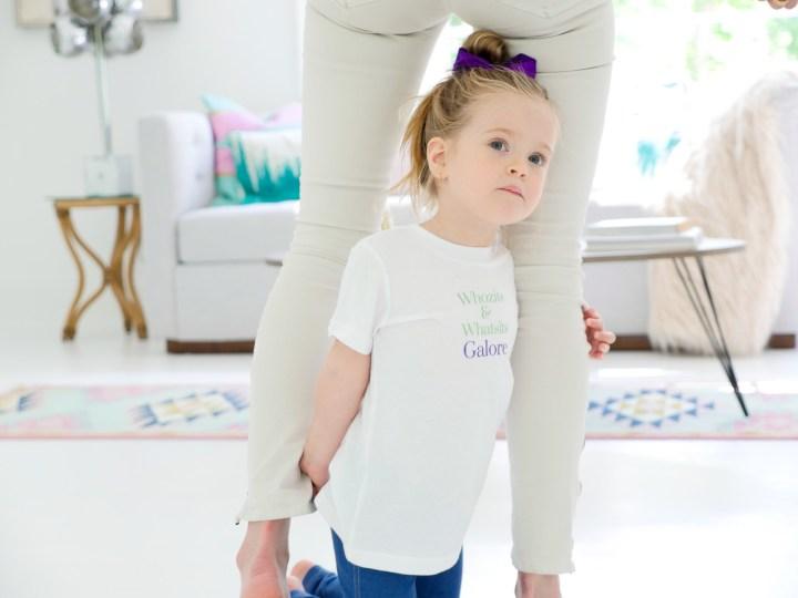 """Marlowe Martino wears her custom """"Whozits And Whatsits Galore"""" shirt designed using The Happily App"""