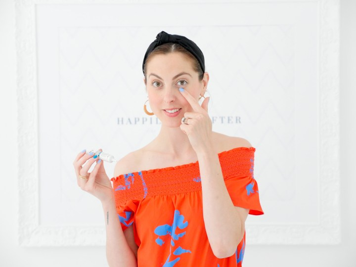 Eva Amurri Martino shows off No. 7 eye cream as part of her monthly obessions roundup