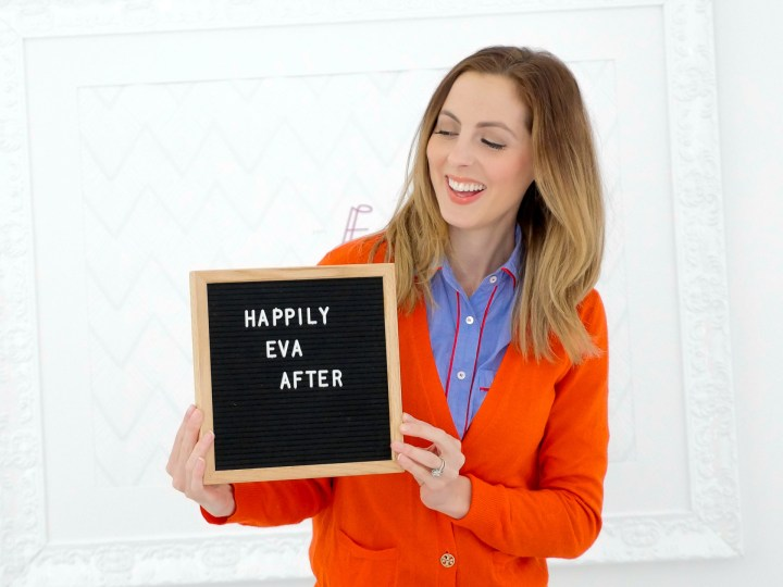 Eva Amurri Martino spells out a sentence on her felt letter board as part of her monthly obsessions roundup