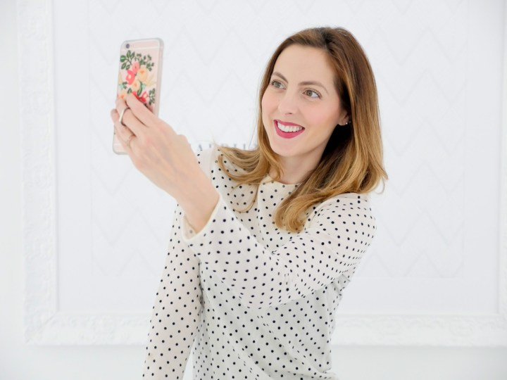 Eva Amurri Martino shows off a cell phone ring stand as part of her monthly product obsessions roundup