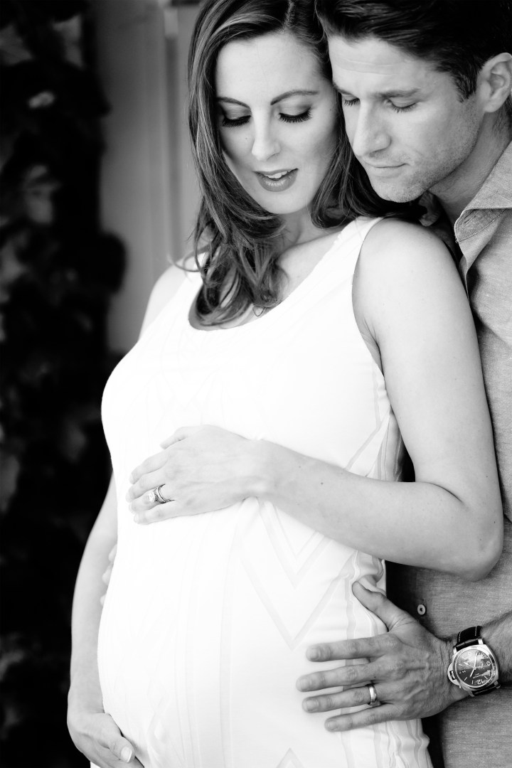 Eva Amurri Martino stands with Kyle Martino at nine months pregnant with first daughter Marlowe
