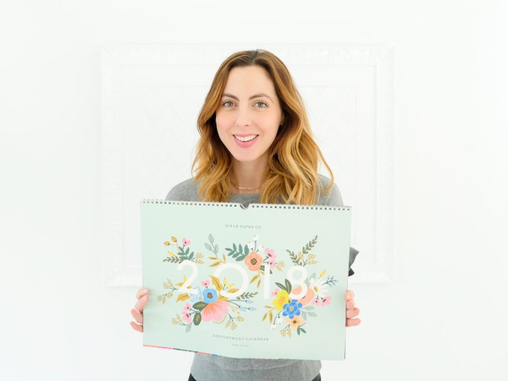 Eva Amurri shares a pretty floral wall calendar as part of her monthly obsessions post
