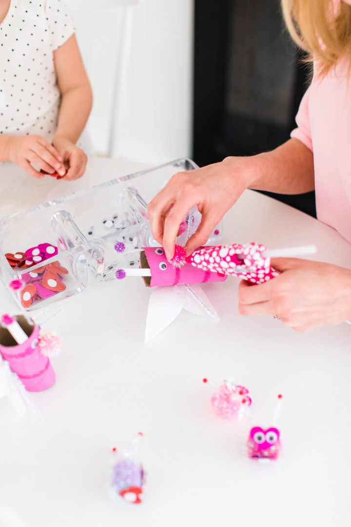 Eva Amurri Martino decorates Lovebugs for Valentine's Day