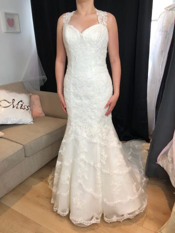 Lillian West Fit & Flare Wedding Gown (6429) – Size 12