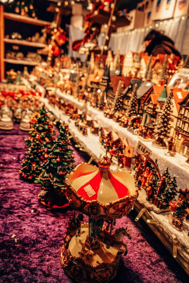 Christmas ornaments at a Christmas market in Europe