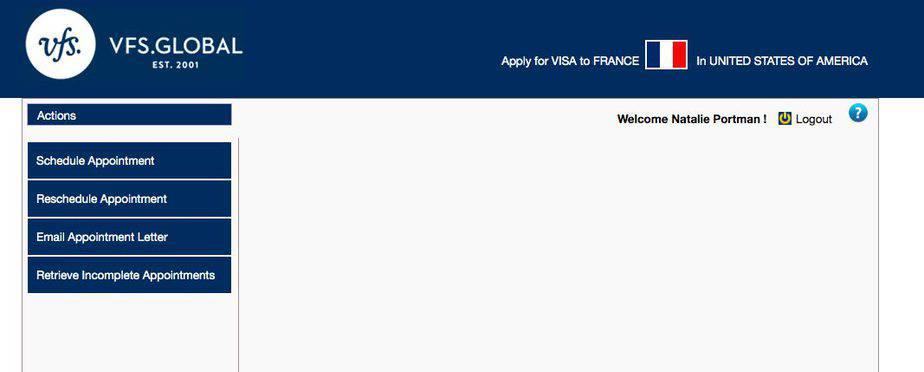 VFS Visa Appointment Center