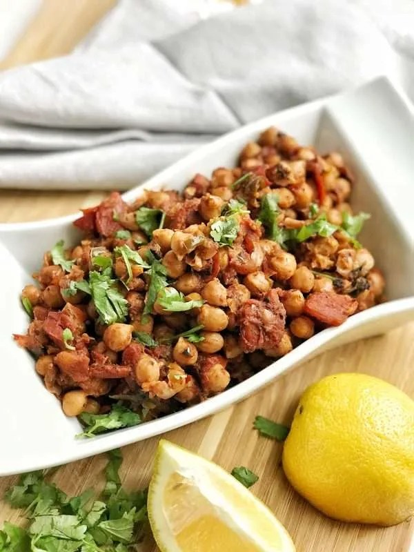Pakistani-style curried chickpeas
