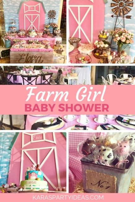 Farm Girl Baby Shower theme