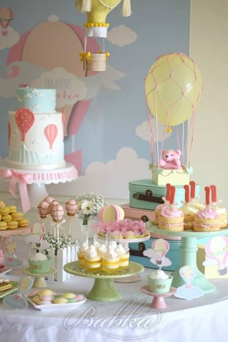 Up Up and Away Baby shower theme