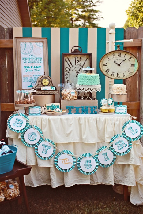 It's Time Baby shower theme