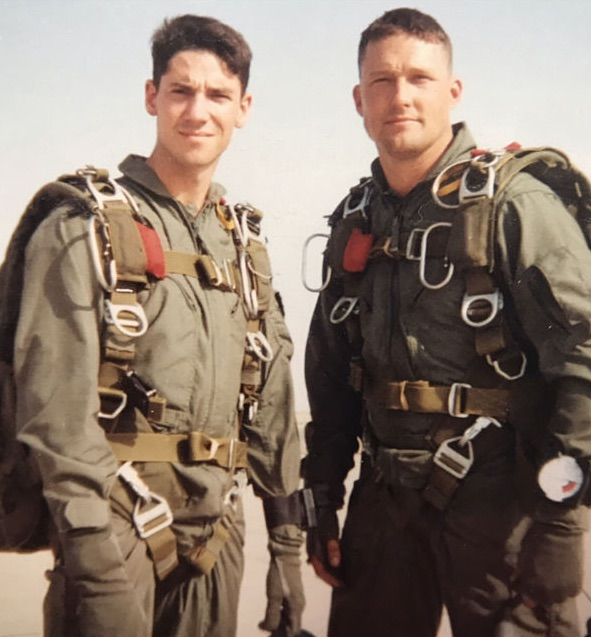 Bobby and Phil in the Marines