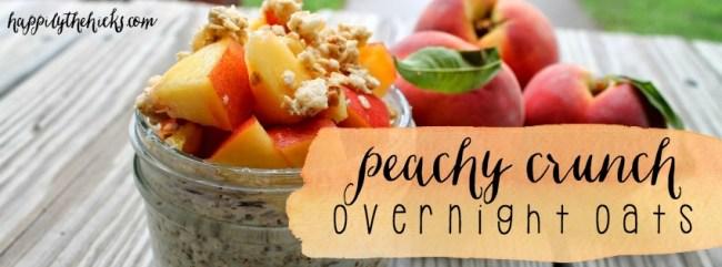 Peachy Crunch Overnight Oats