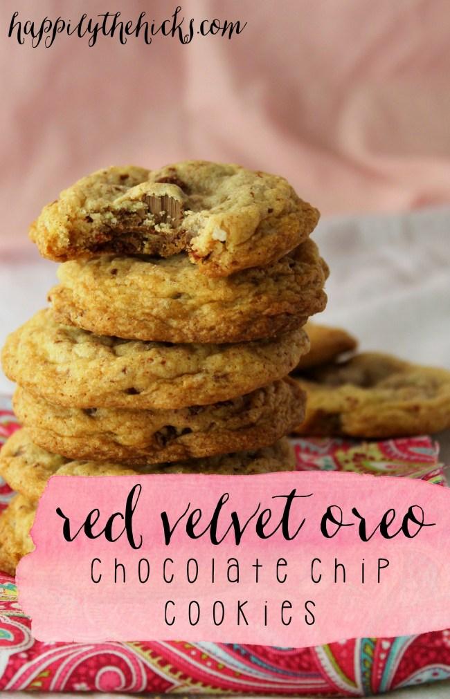 Red Velvet Oreo Chocolate Chip Cookies pinterest
