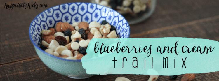Blueberries and Cream Trail Mix