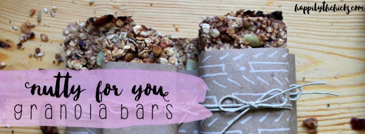 Nutty for You Granola Bars | read more at happilythehicks.com