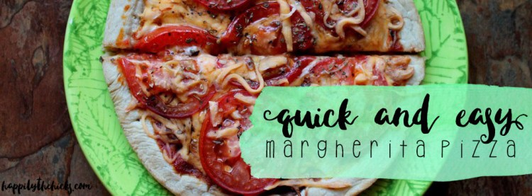 Quick & Easy Margherita Pizza | read more at happilythehicks.com