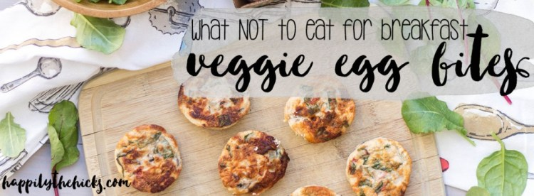 Veggie Egg Bites - The perfect breakfast, full of veggies and protein that your body will love! | read more at happilythehicks.com