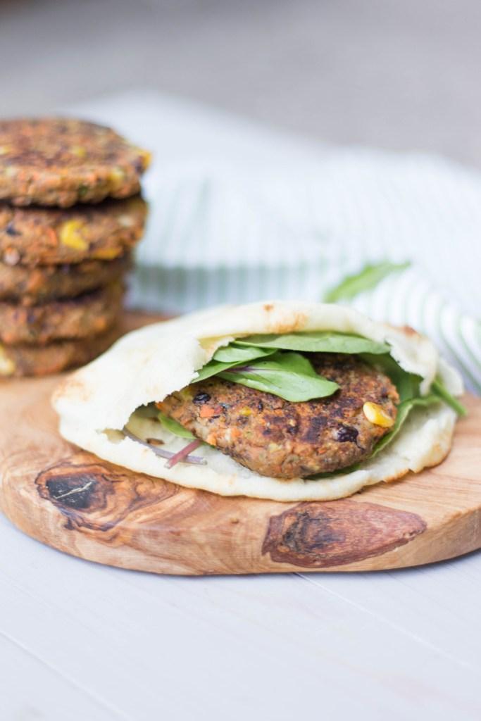 Sweet Potato and Black Bean Veggie Burger | read more at happilythehicks.com