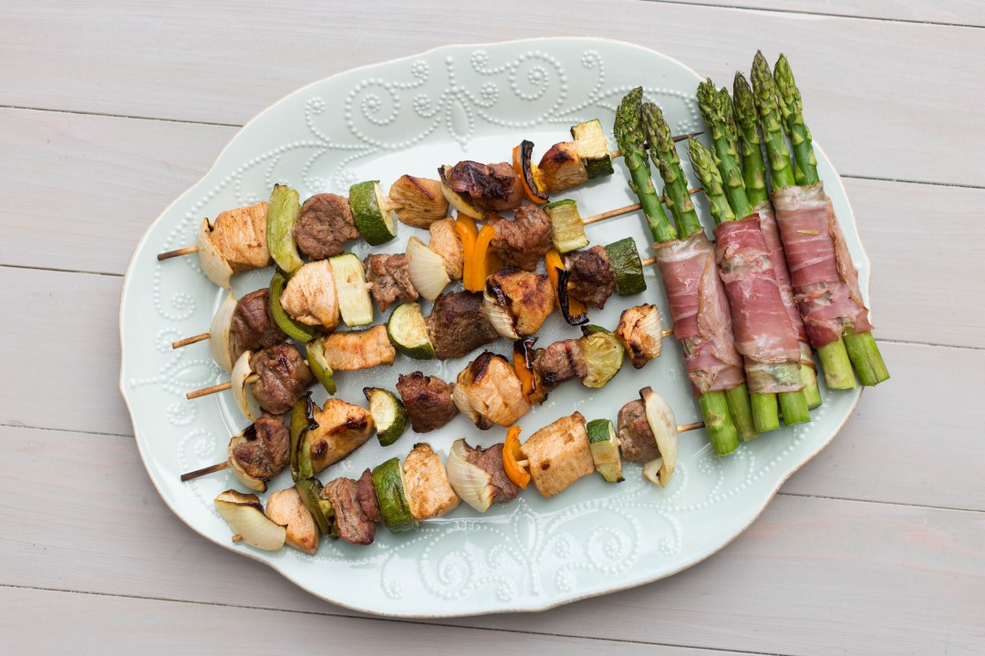 Chicken and Beef Kabobs