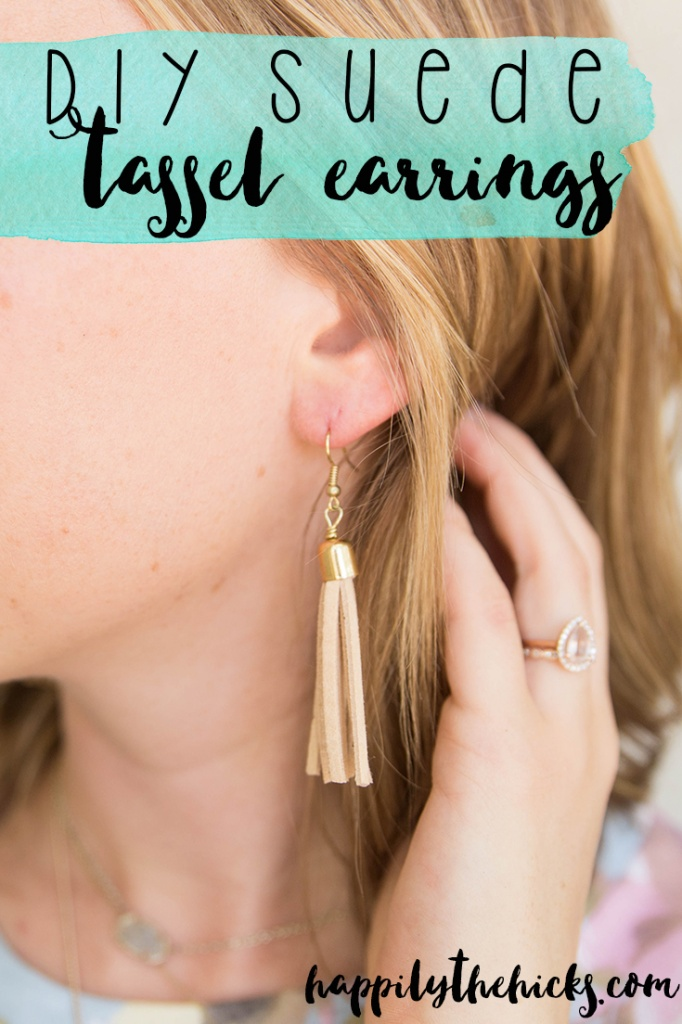 Check out these super cute DIY tassel earrings that are so easy to make! Perfect for your next summer accessory.   read more at happilythehicks.com
