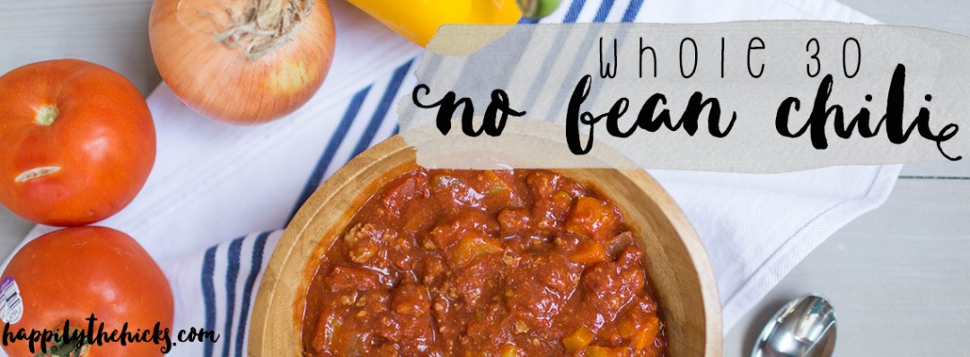You'll love this Whole30 approved no bean chili full of fresh veggies and lean protein!   read more at happilythehicks.com