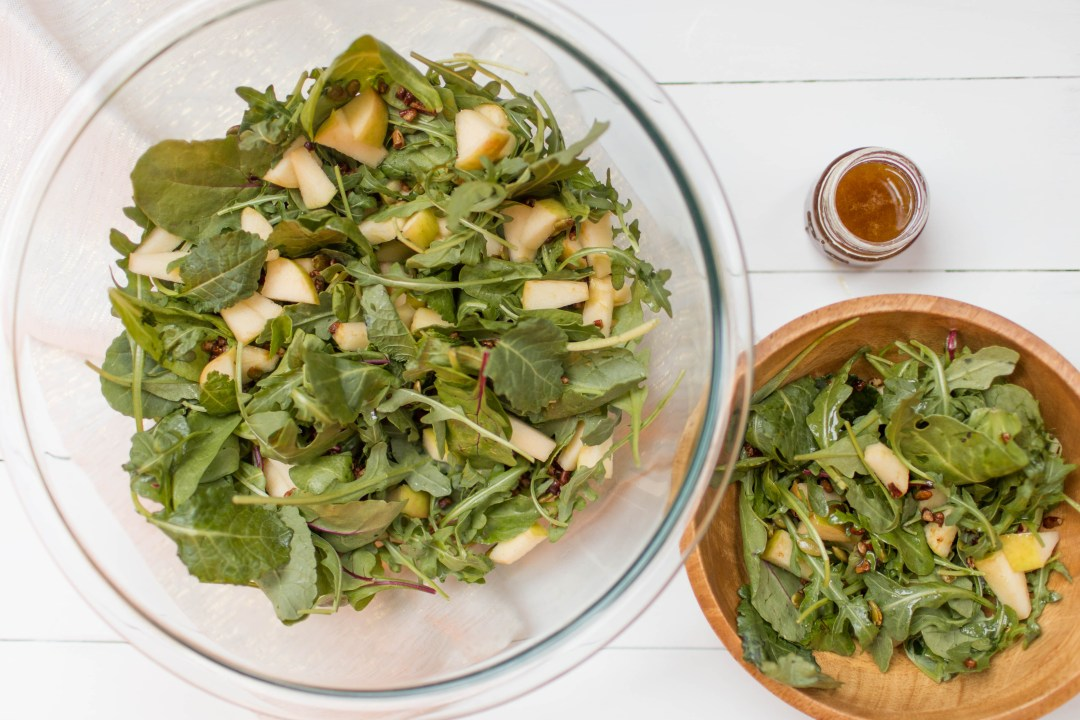 Spinach & Arugula Fall Salad