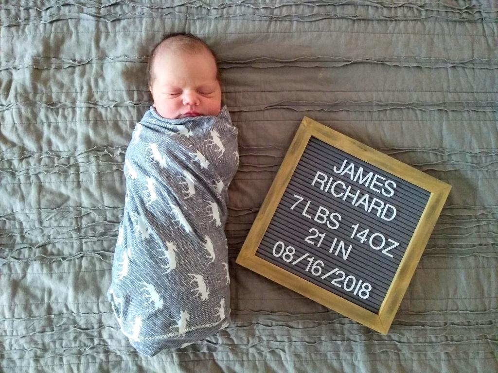James Richard Birth Story   read more at happilythehicks.com