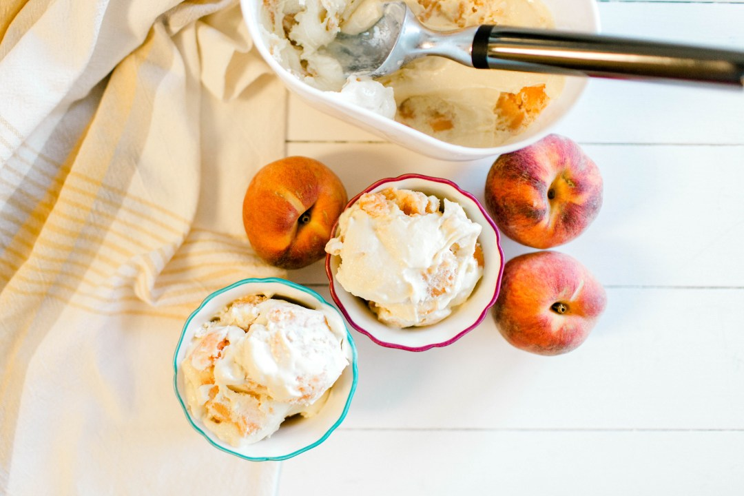 Peach Swirl Homemade Ice Cream