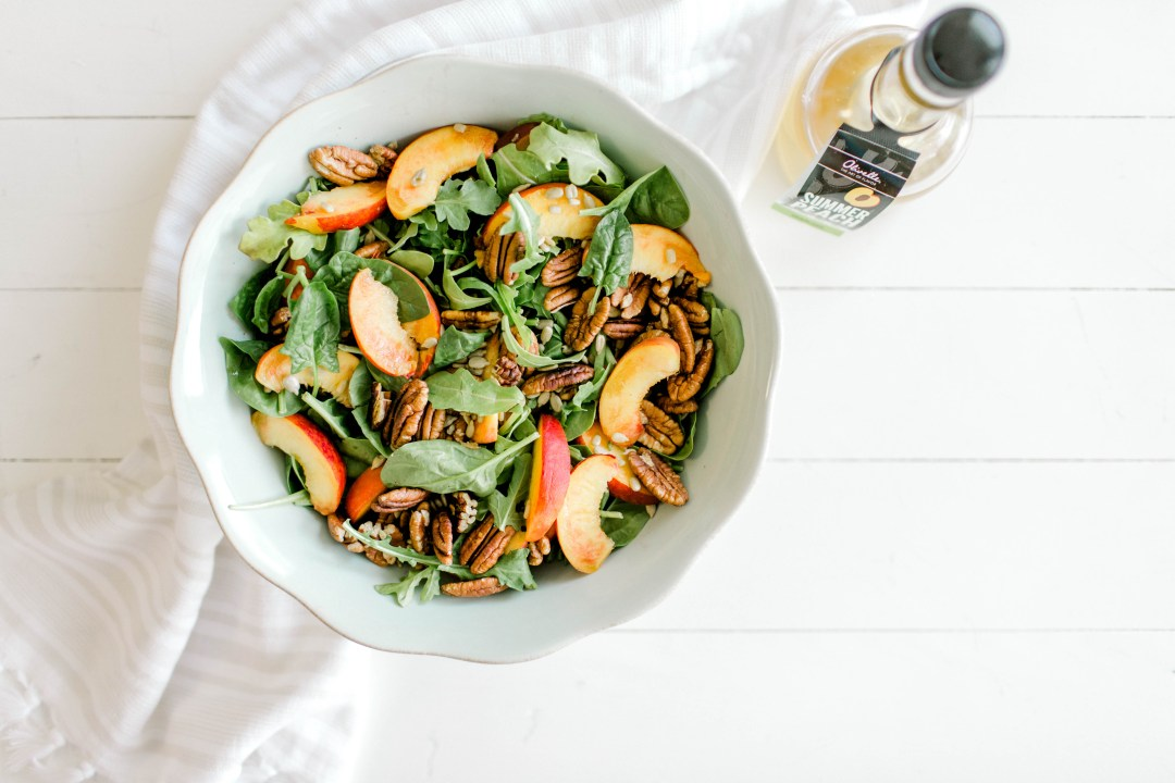 Peaches and Pecans Summer Salad