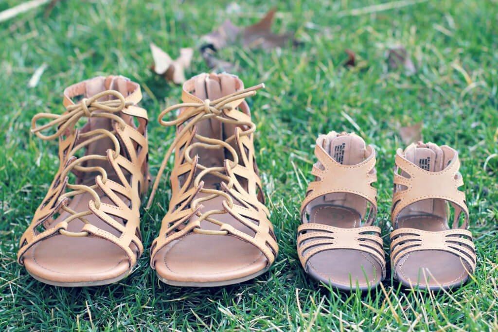 Mama + Mini Tan Spring Sandals
