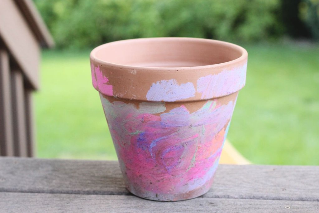 Kid Painted Pot