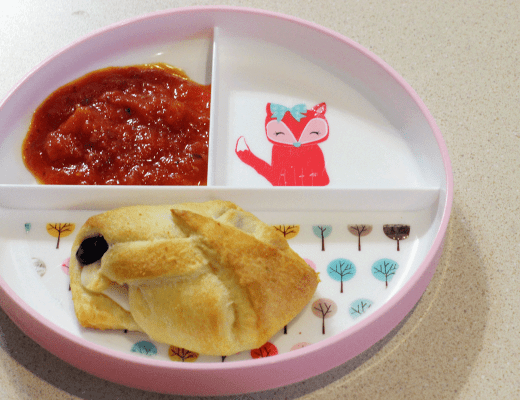 Crescent Roll Pizzas for Toddler
