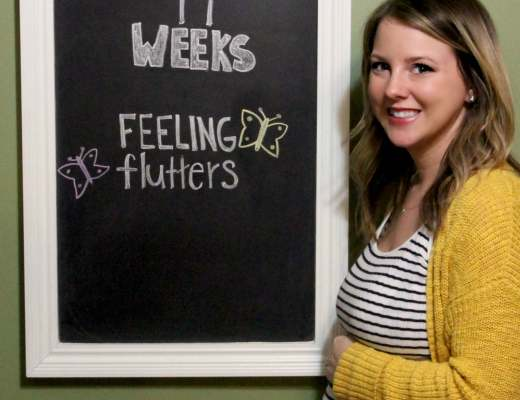 14 Weeks Pregnant Chalkboard Picture