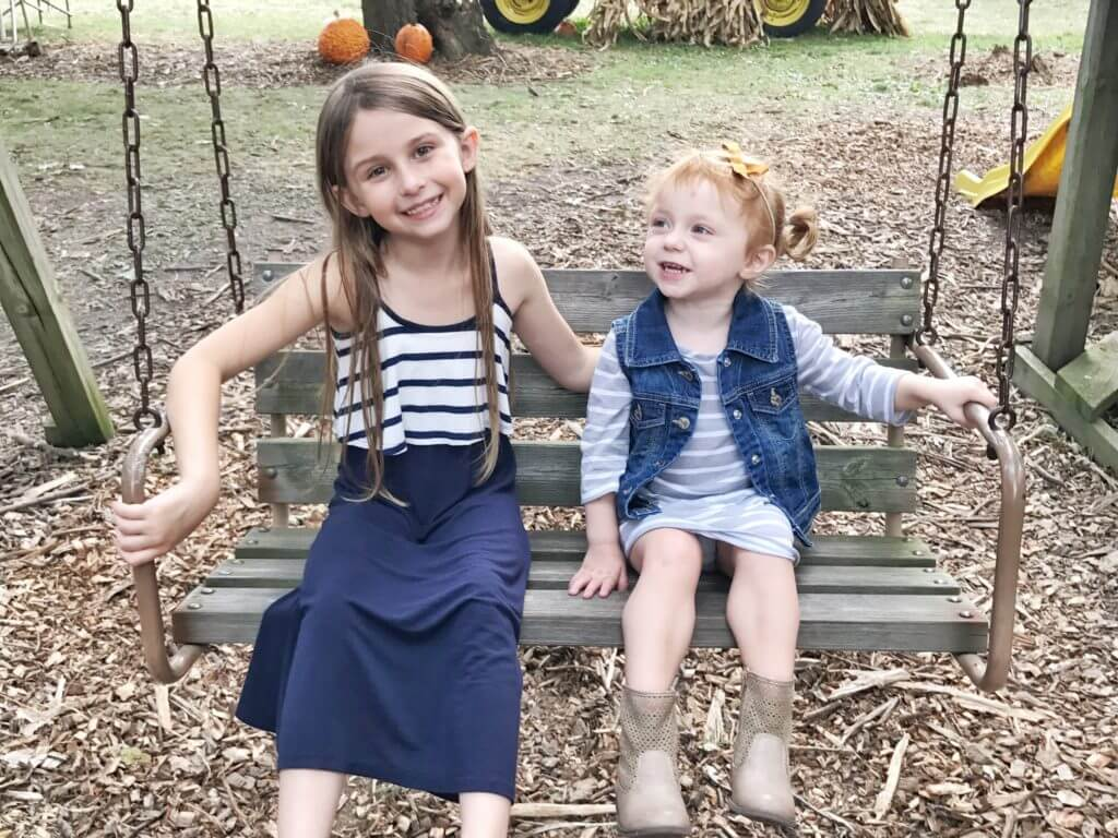 Blaire and Brylee at Pumpkin Patch