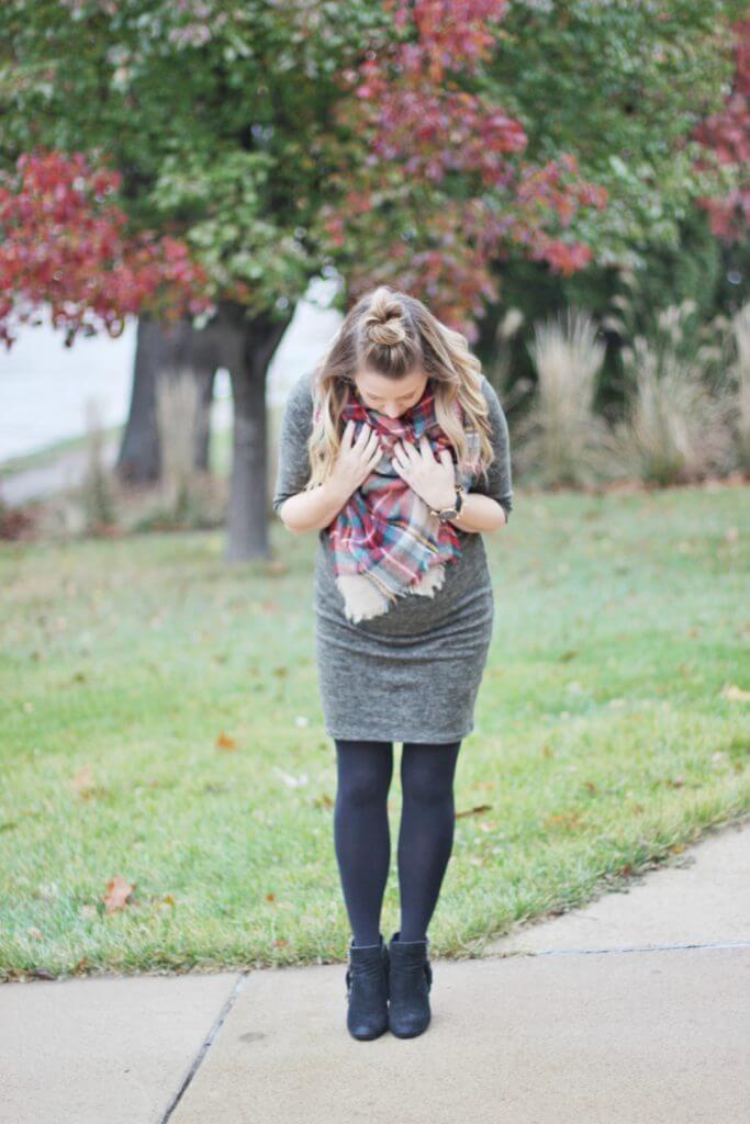 Pink Blush Olive Maternity Sweater Dress