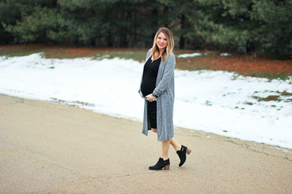 Motherhood Maternity Dress and Long Slub Cardigan