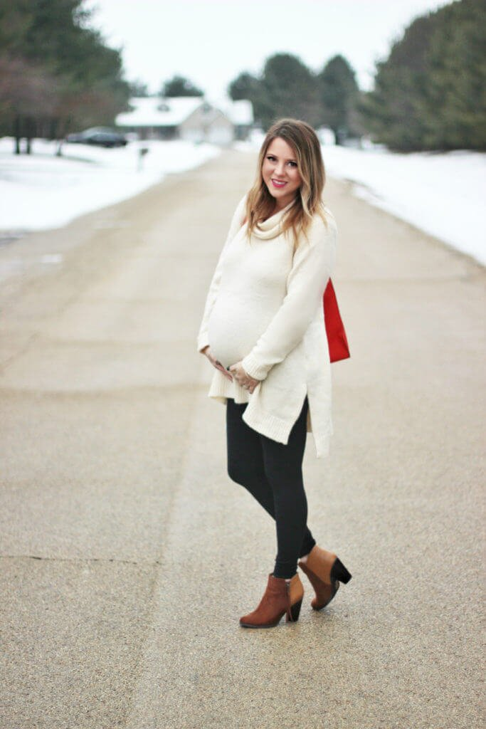 Motherhood Maternity Tunic Sweater Outfit