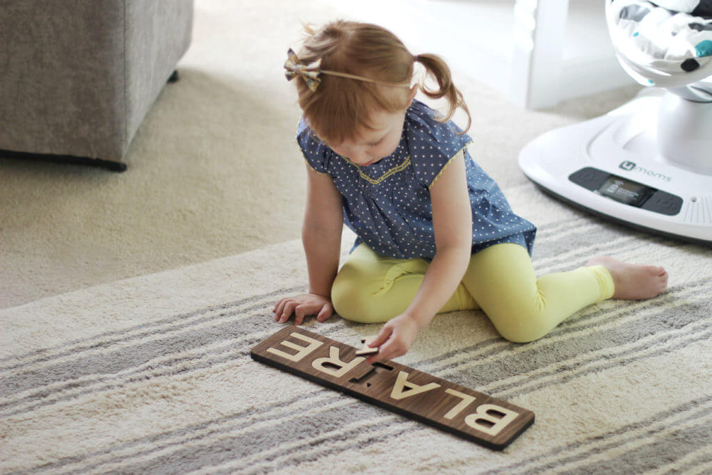 Smiling Tree Wooden Name Puzzle